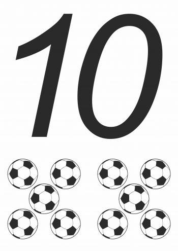 Карточка с цифрой 10