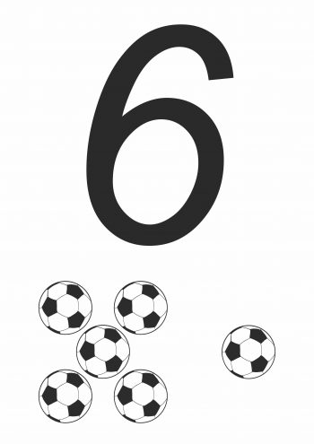 Карточка с цифрой 6