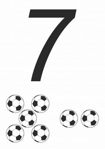 Карточка с цифрой 7