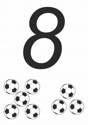 Карточка с цифрой 8