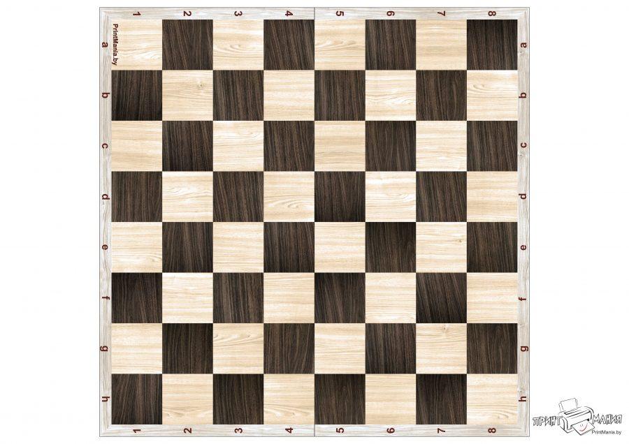 Деревянная шахматная доска для распечатки