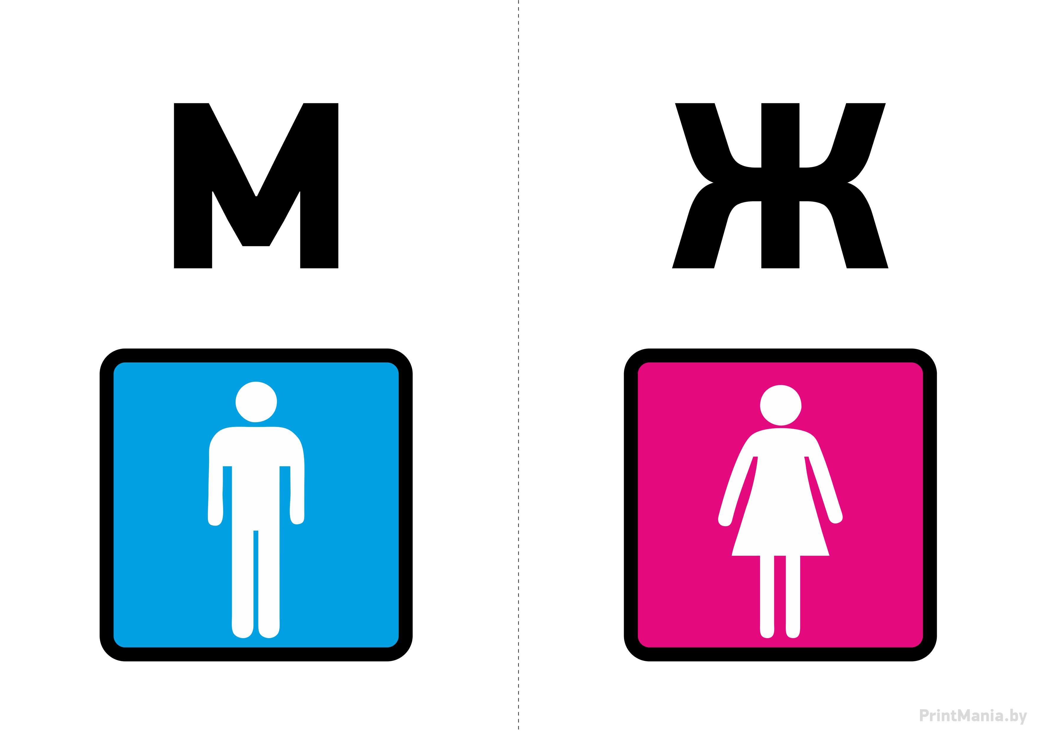 Картинка туалет мужской и женский