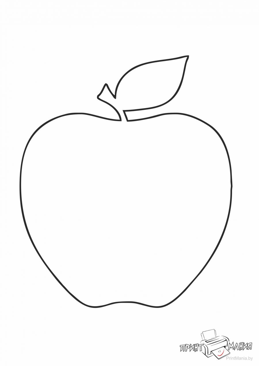 Трафарет яблока