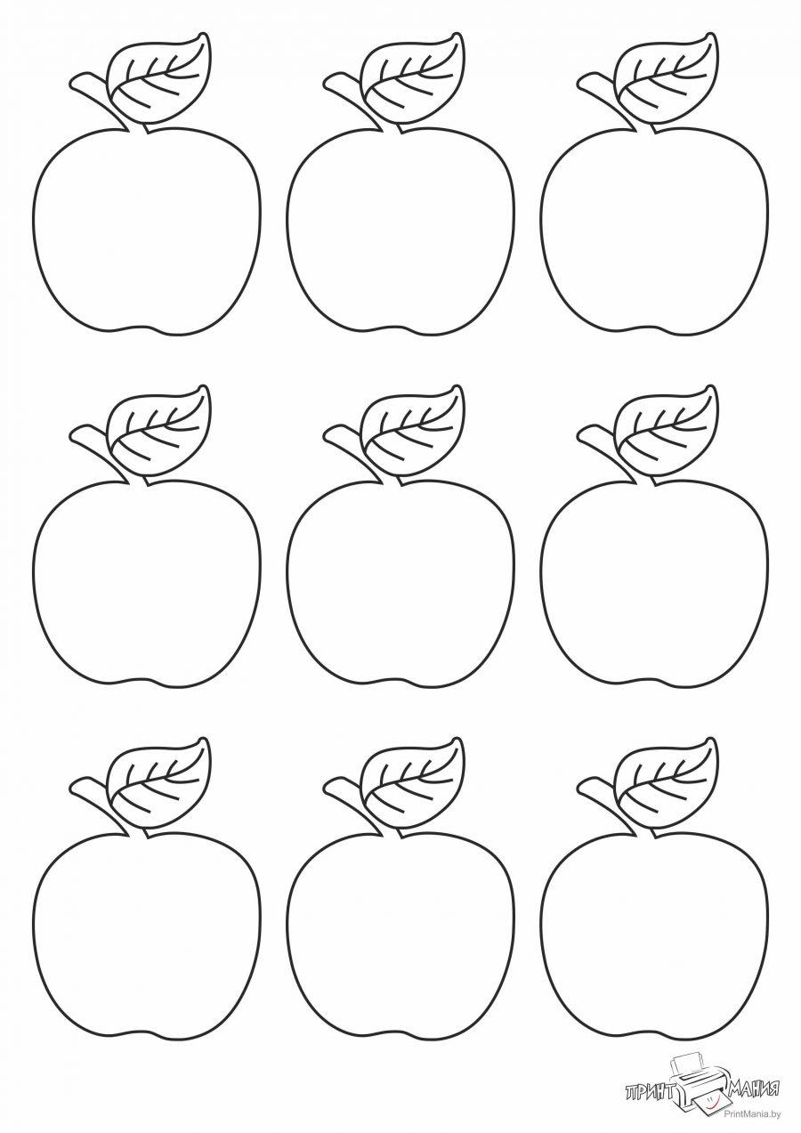 Трафарет с яблоками