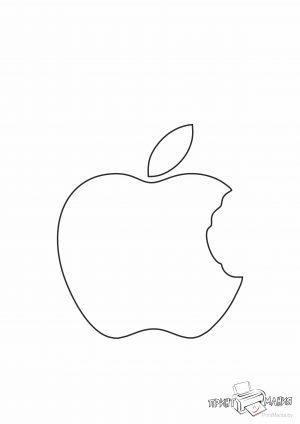 Надкусанное яблоко - шаблон для вырезания