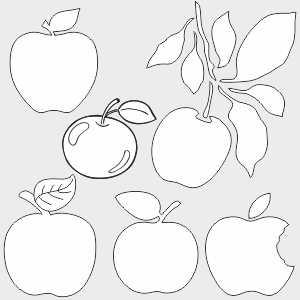 Трафареты яблок