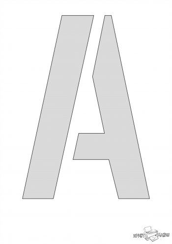 Буква А - трафарет