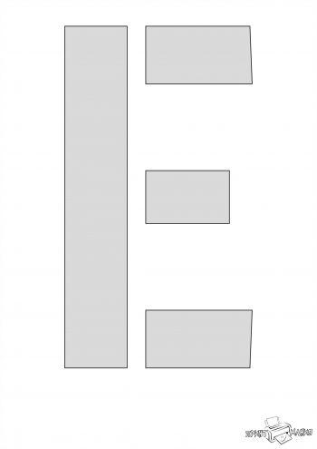 Буква Е - трафарет