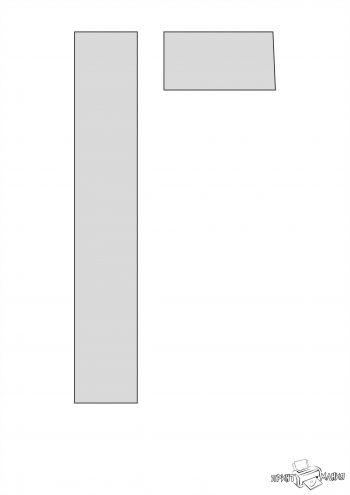 Буква Г - трафарет