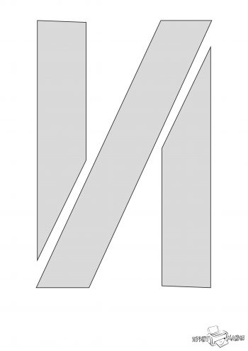 Буква И - трафарет