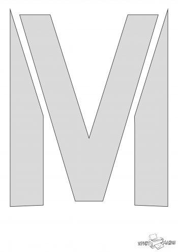 Трафарет буквы М