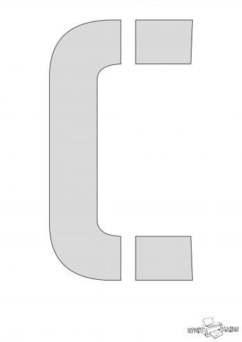 Трафарет буквы С