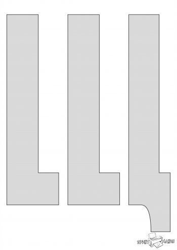 Буква Щ - трафарет