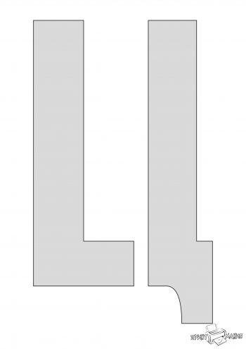 Буква Ц - трафарет