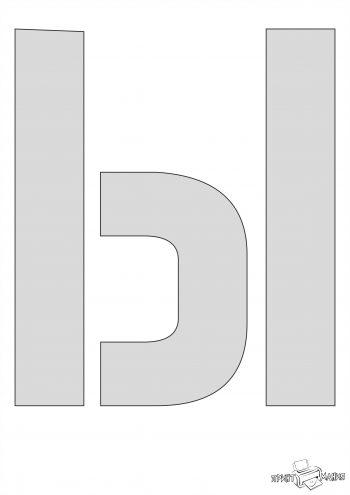 Трафарет буквы Ы