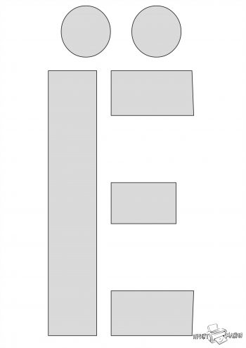 Буква Ё - трафарет